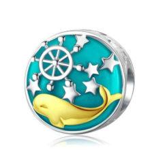 Ezüst charm bálnával –  Pandora stílus