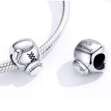 Ezüst charm, bokszkesztyű