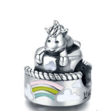 Ezüst charm unikornissal –  Pandora stílus