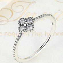 Apró virágos ezüst gyűrű, Ezüst, 6 (Pandora stílus)