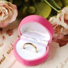 Szív alakú ékszer doboz rózsaszín