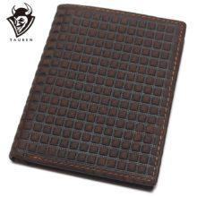 Marhabőr férfi pénztárca geometrikus mintával, kétféle kialakítással
