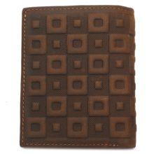 Férfi pénztárca marhabőrből, geometrikus mintával, kétféle kialakításban