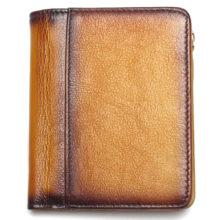 Férfi pénztárca festett marhabőrből, 4 színben