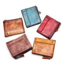 Uniszex pénztárca marhabőrből, 5 színben