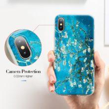 Műanyag iPhone tok Vang Gogh festménnyel, 5 változatban