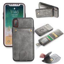 Bőr iPhone tok kártyatartóval, 5 színben