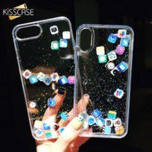 Műanyag iPhone tok ikonokkal, 4 színben
