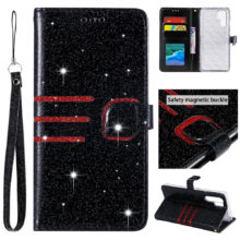 Csillogó bőr telefontok Samsung készülékekhez, 6 színben