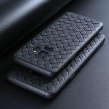 Szilikon tok fonott mintával, Samsung modellekhez, 5 színben