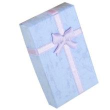 Ékszerdoboz masnival, papírból, lila