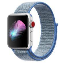 Apple watch óraszíj, nejlon, 42 mm, kék
