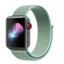 Apple watch óraszíj, nejlon, 38 mm, tengerzöld