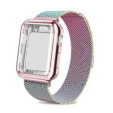 Apple watch óraszíj tokkal, rozsdamentes acél, 42 mm, színes