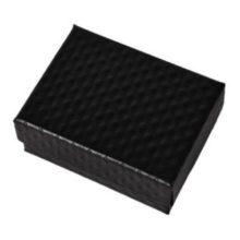Ékszerdoboz strukturált mintával, papír, fekete
