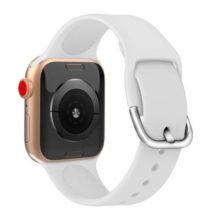 Apple watch óraszíj szilikonból, 38-40 mm, fehér
