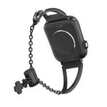 Apple watch óraszíj rozsdamentes acélból, 38-40 mm, fekete