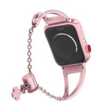 Apple watch óraszíj rozsdamentes acélból, 42-44 mm, rózsaszín