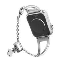 Apple watch óraszíj rozsdamentes acélból, 42-44 mm, ezüst
