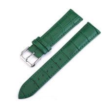 Női óraszíj bőrből, zöld, 18 mm