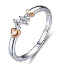 Ezüst gyűrű halcsonttal, 7-es méret